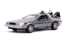 Back to the Future II Hollywood Rides Kov. Model 1/24 DeLorean Time Machine
