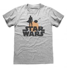 Star Wars The Mandalorian Tričko Silhouette Velikost S