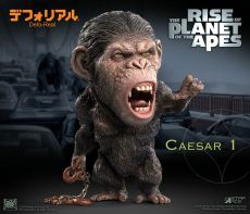 Rise of the Planet of the Apes Deform Real Series Soft vinylová Soška Caesar Chain Ver. 15 cm