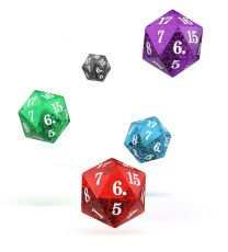 Oakie Doakie Dice D20 Spindown Dice Set Speckled (5)