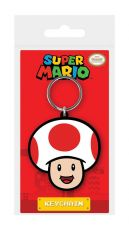 Super Mario Gumový Keychain Toad 6 cm