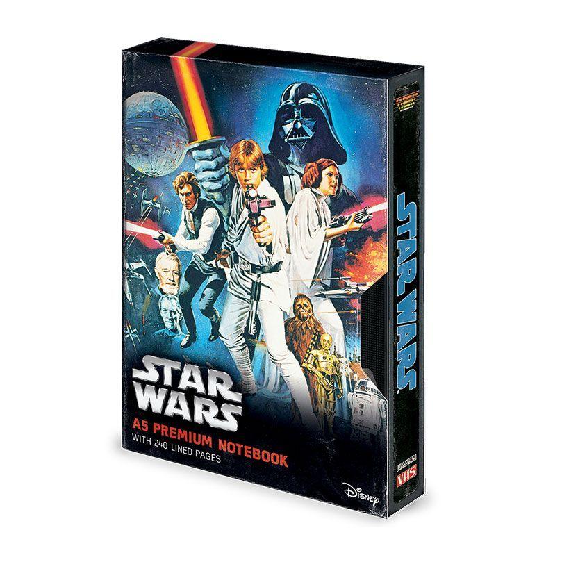 Star Wars Premium Poznámkový Blok A5 A New Hope VHS Pyramid International