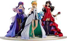 Fate/Stay Night PVC Sochy 1/7 Saber, Rin Tohsaka and Sakura Matou 15th Celebration Dress Ver.