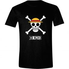 One Piece Tričko Luffy Logo Velikost M