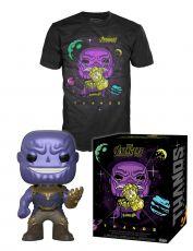 Avengers Infinity War POP! & Tee Box Thanos Velikost XL