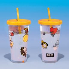 BT21 Cup & Straw Logo