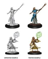 D&D Nolzur's Marvelous Miniatures Unpainted Miniatures Female Elf Sorcerer Case (6)