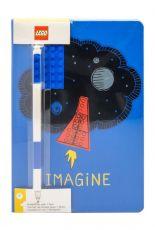 LEGO Poznámkový Blok with Propiska Imagine