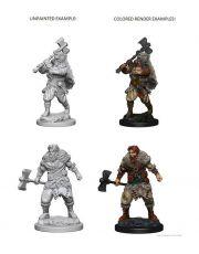 D&D Nolzur's Marvelous Miniatures Unpainted Miniatures Human Male Barbarian Case (6)
