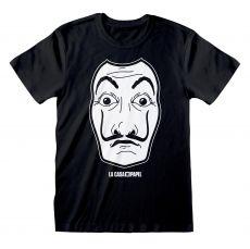 Money Heist Tričko Black Mask Velikost M
