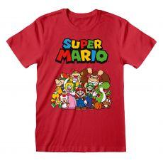 Super Mario Tričko Main Character Group Velikost XL
