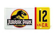 Jurassic Park Replika 1/1 Dennis Nedry License Plate