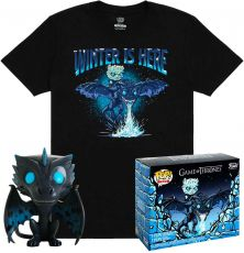Game of Thrones POP! & Tee Box Icy Viserion heo Exclusive Velikost S
