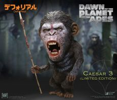 Dawn of the Planet of the Apes Deform Real Series Soft vinylová Soška Caesar Warrior Face LTD 15 cm