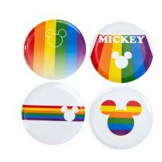 Disney Talíře 4-Pack Mickey Rainbow
