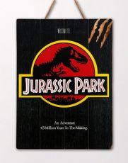 Jurassic Park WoodArts 3D Wooden Nástěnná Art Logo 30 x 40 cm