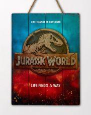 Jurassic World WoodArts 3D Wooden Nástěnná Art Logo 30 x 40 cm
