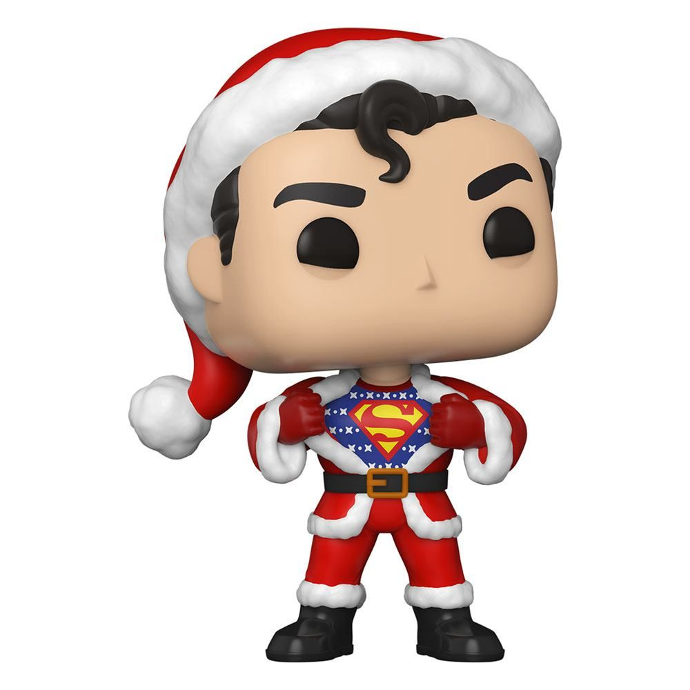 DC Comics POP! Heroes vinylová Figure DC Holiday: Superman in Holiday Mikina 9 cm Funko