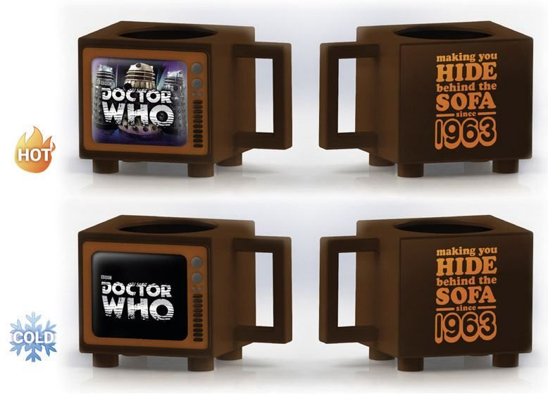 Doctor Who Heat Měnící Hrnek Hide Behind the Sofa Pyramid International