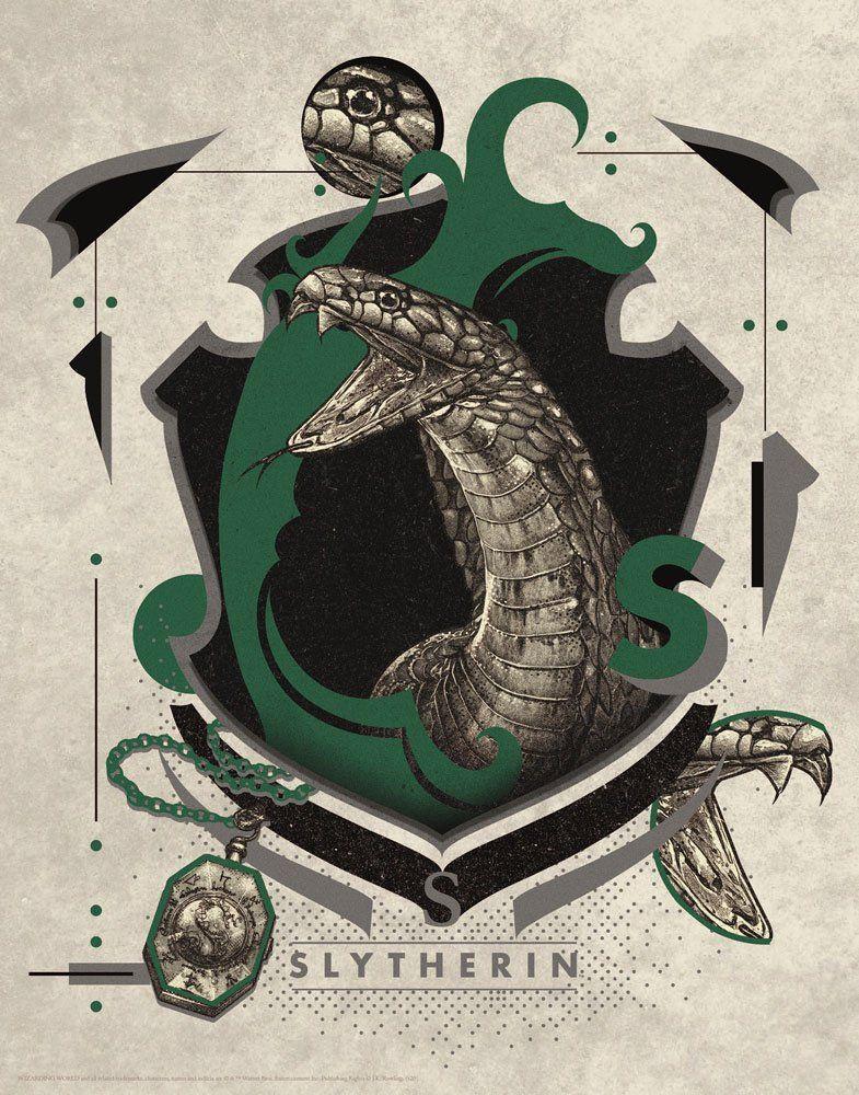 Harry Potter Art Print Zmijozel 36 x 28 cm FaNaTtik