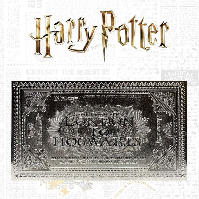 Harry Potter Replika Bradavice Train Ticket Limited Edition (silver plated) FaNaTtik