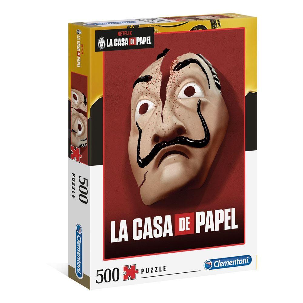 Money Heist Jigsaw Puzzle Mask (500 pieces) Clementoni