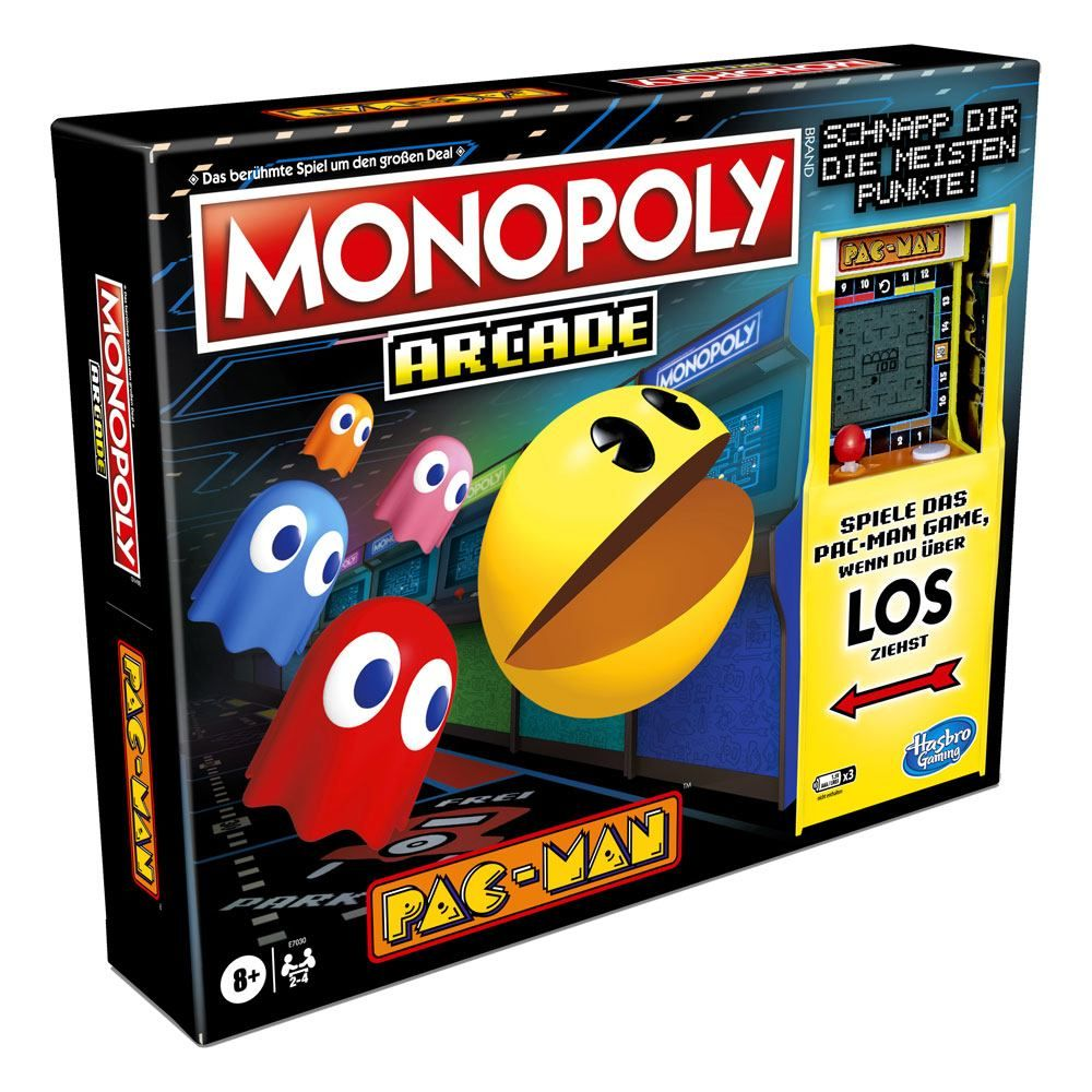 Pac-Man Arcade Board Game Monopoly Německá Verze Hasbro