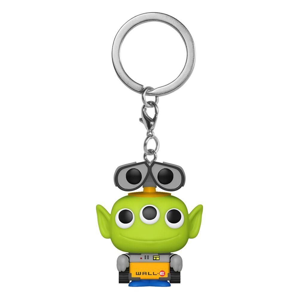Pixar Pocket POP! vinylová Přívěsky na klíče 4 cm Alien as Wall-E Display (12) Funko