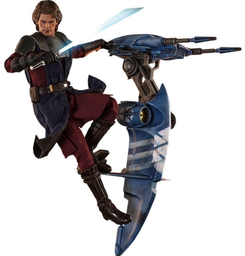 Star Wars The Clone Wars Akční Figure 1/6 Anakin Skywalker & STAP 31 cm Hot Toys
