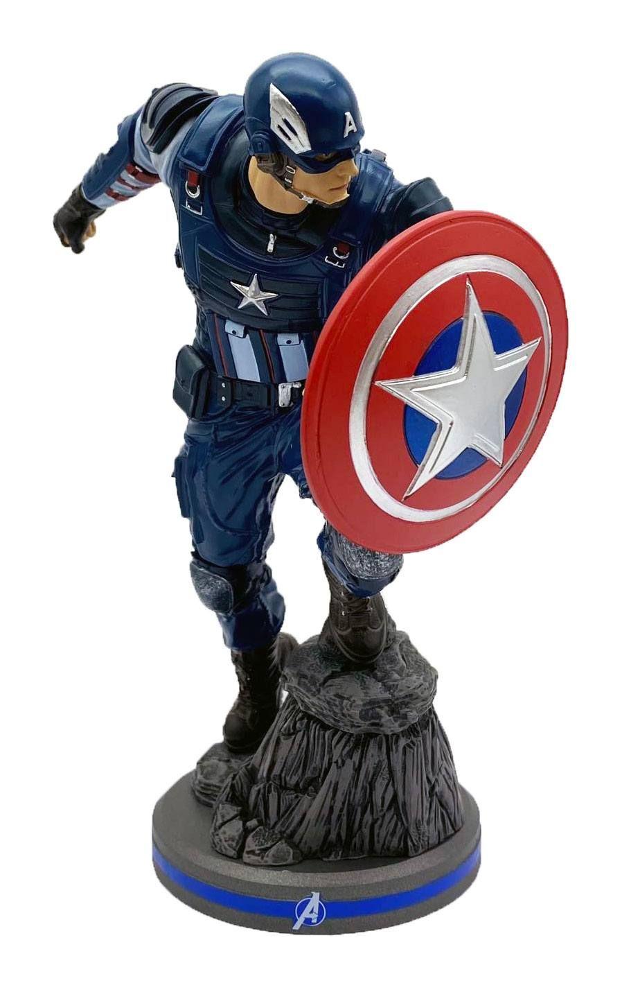 Avengers 2020 Video Game PVC Soška 1/10 Captain America 22 cm Pop Culture Shock