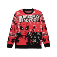 Deadpool Knitted Christmas Mikina Here comes Deadpool! Velikost L