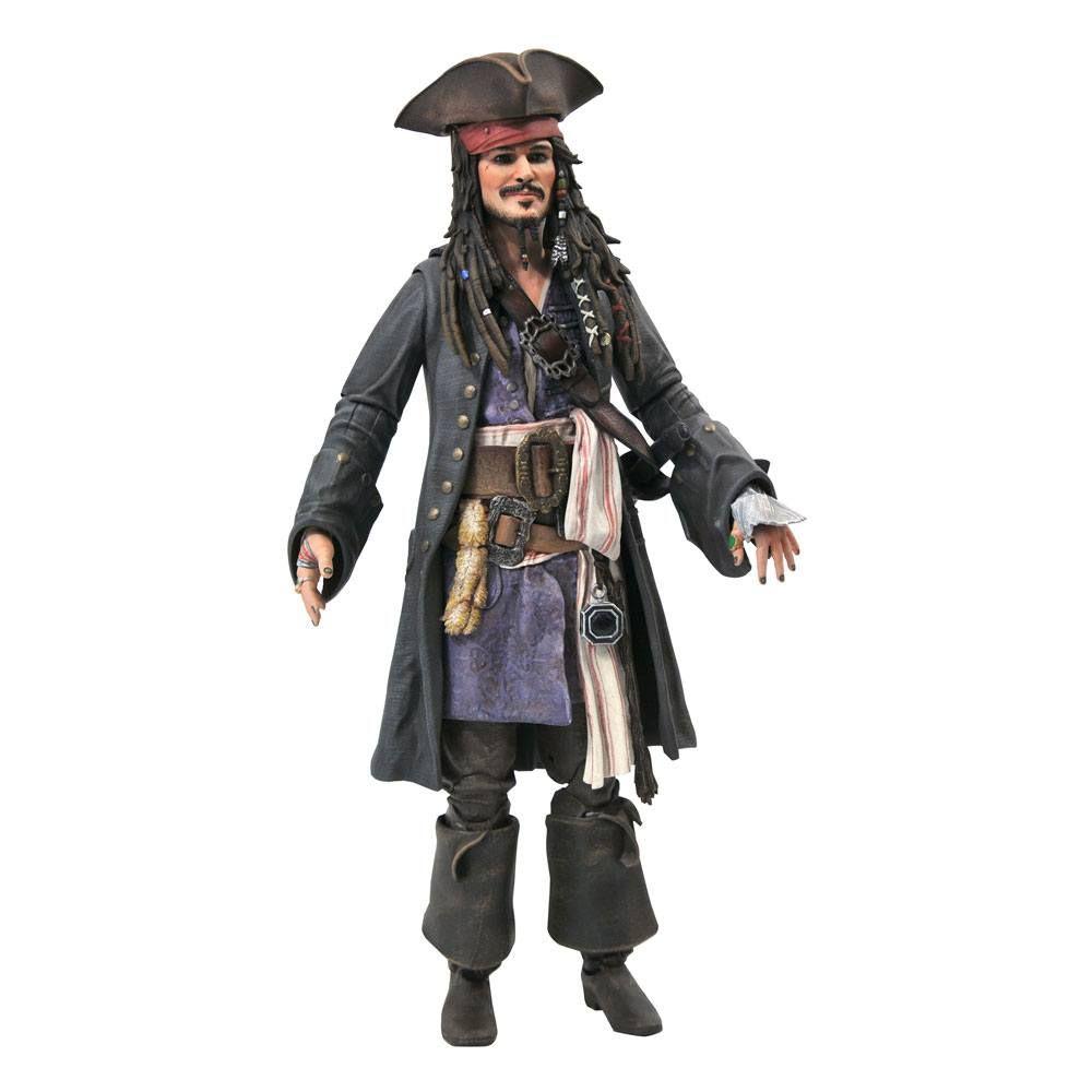 Pirates of the Caribbean Deluxe Akční Figure Jack Sparrow 18 cm Diamond Select