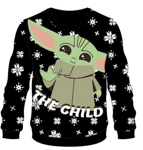 Star Wars The Mandalorian Knitted Christmas Mikina The Child Velikost XL Difuzed