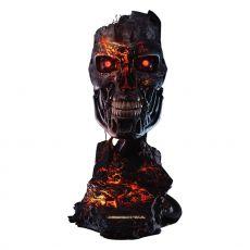 Terminator 2: Judgment Day Replika 1/1 T-800 Endoskeleton Mask Battle Damaged Verze 46 cm