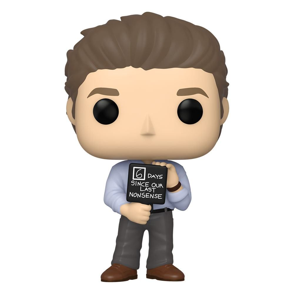 The Office US POP! TV vinylová Figure Jim w/Nonsense Sign 9 cm Funko