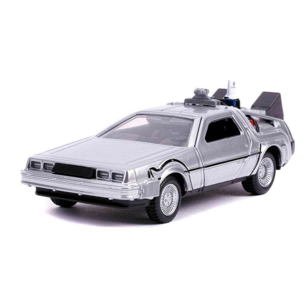Back to the Future II Hollywood Rides Kov. Model 1/32 DeLorean Time Machine Jada Toys