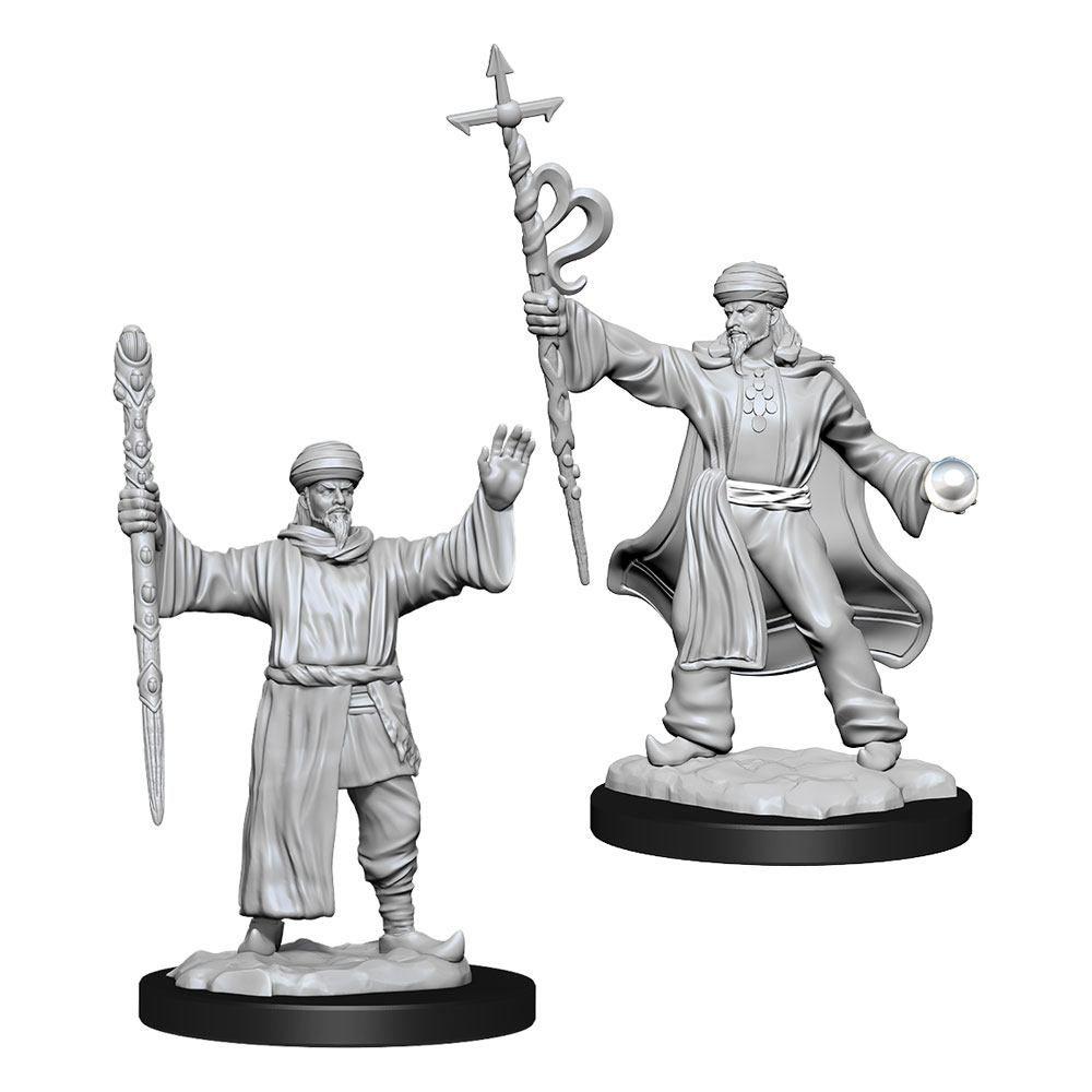 D&D Nolzur's Marvelous Miniatures Unpainted Miniatures Human Wizard Male Case (6) Wizkids