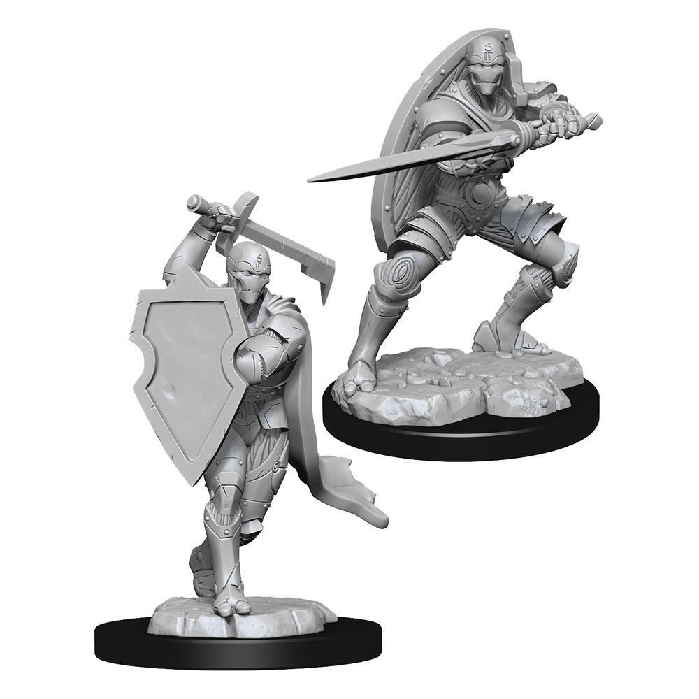 D&D Nolzur's Marvelous Miniatures Unpainted Miniatures Warforged Fighter Male Case (6) Wizkids