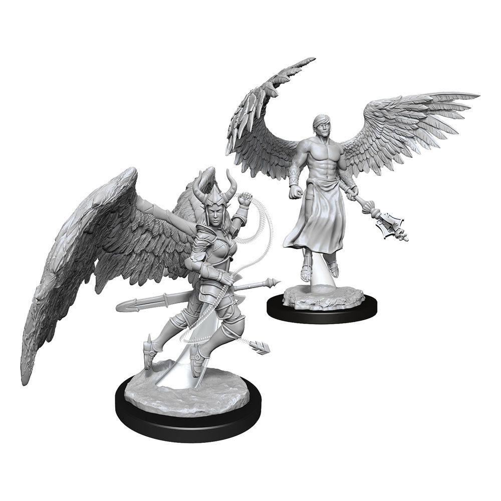 D&D Nolzur's Marvelous Miniatures Unpainted Miniatures Deva & Erinyes Case (6) Wizkids