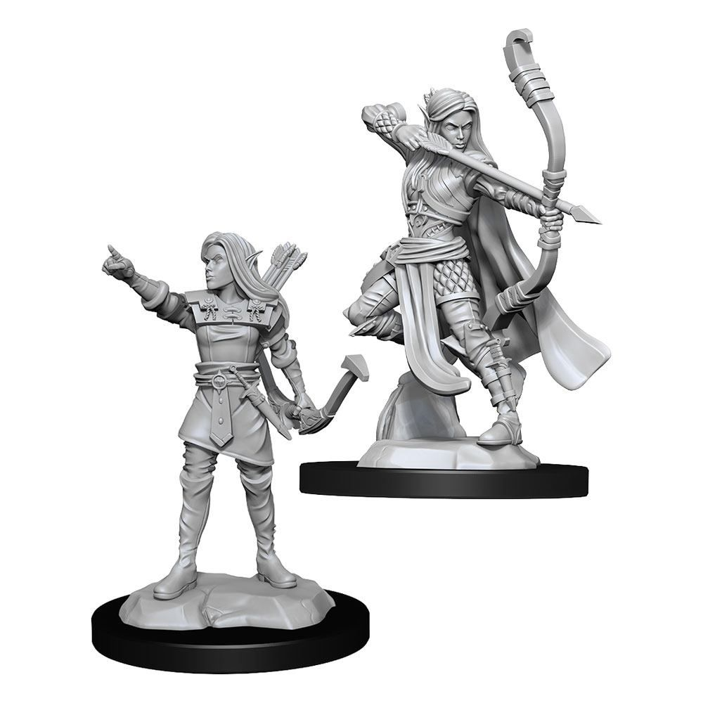 D&D Nolzur's Marvelous Miniatures Unpainted Miniatures Elf Ranger Female Case (6) Wizkids