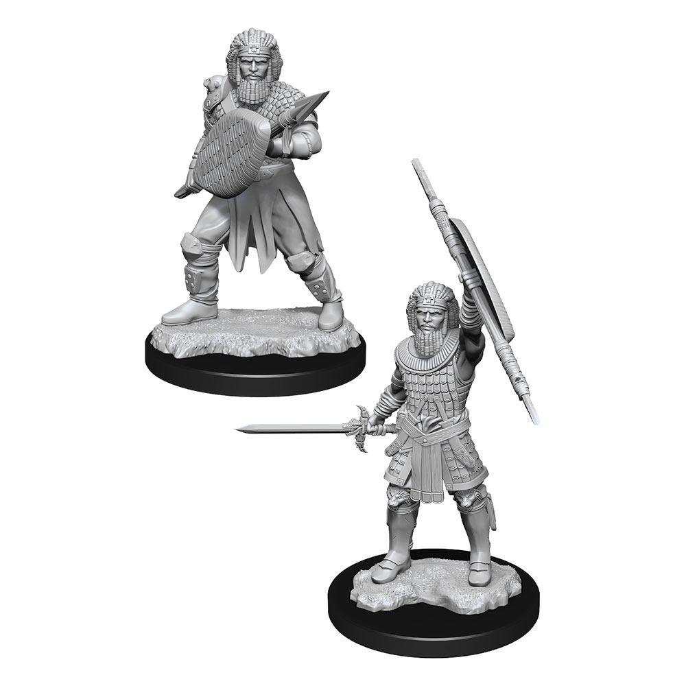 D&D Nolzur's Marvelous Miniatures Unpainted Miniatures Human Fighter Male Case (6) Wizkids