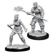 D&D Nolzur's Marvelous Miniatures Unpainted Miniatures Orc Barbarian Female Case (6)