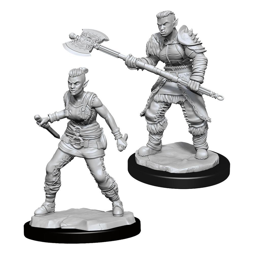 D&D Nolzur's Marvelous Miniatures Unpainted Miniatures Orc Barbarian Female Case (6) Wizkids
