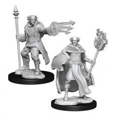 D&D Nolzur's Marvelous Miniatures Unpainted Multiclass Cleric & Wizard Male Case (6)