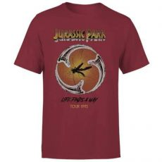 Jurassic Park Tričko Life Finds A Way Tour  Velikost S