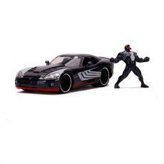 Marvel Spider-Man Hollywood Rides Kov. Model 1/24 2008 Dodge Viper SRT10 with Figure