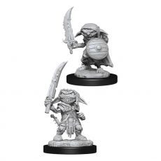 Pathfinder Battles Deep Cuts Unpainted Miniatures Goblin Fighter Male Case (6)