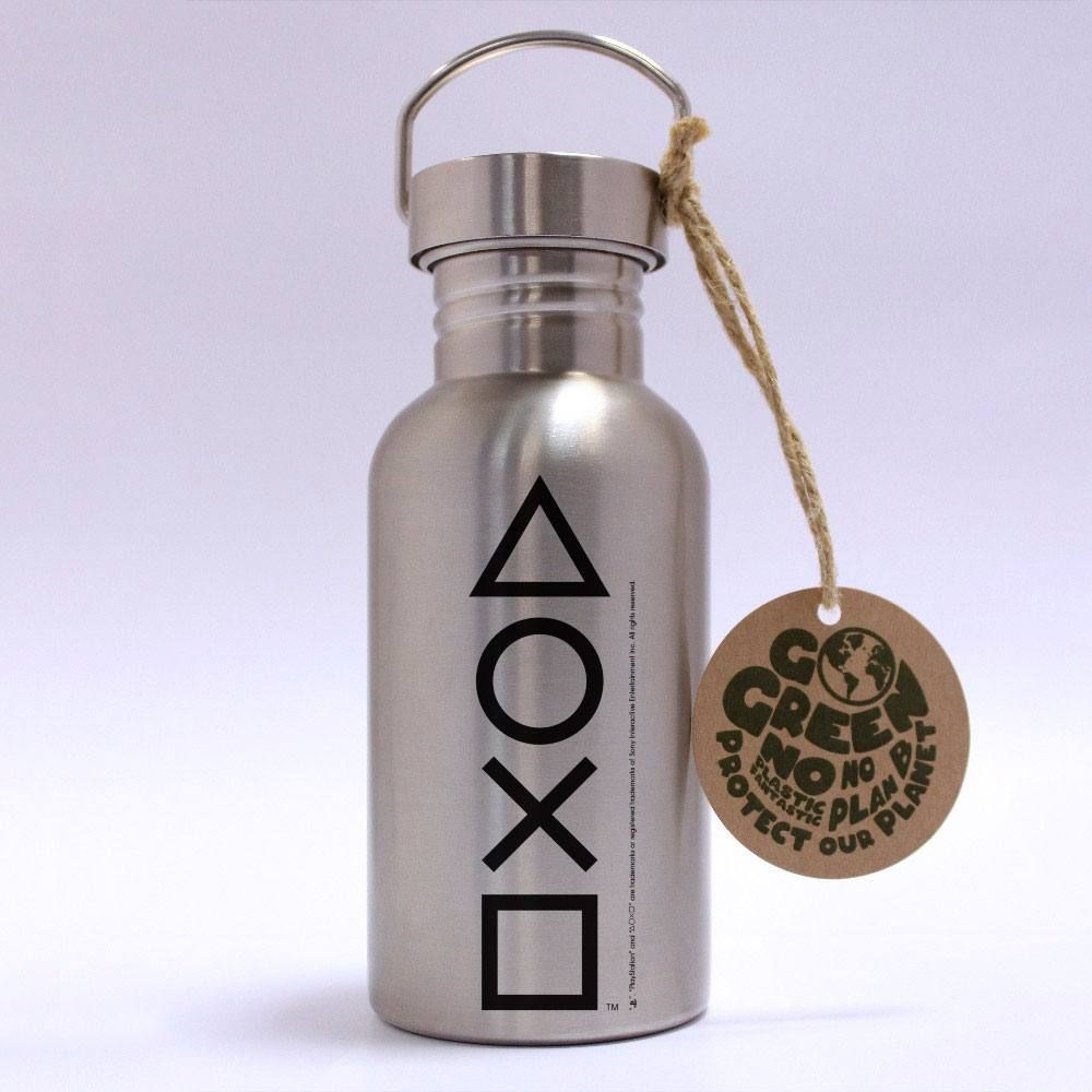 PlayStation Stainless Steel Water Bottle Buttons GB eye