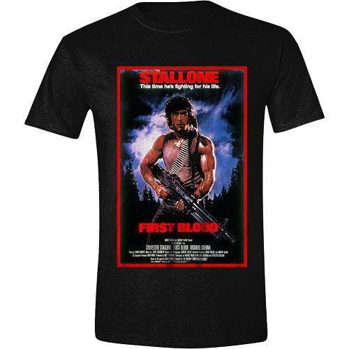 Rambo Tričko First Blood Plakát Velikost L PCM