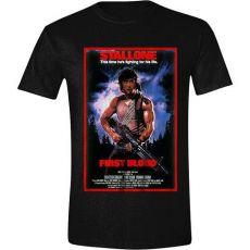Rambo Tričko First Blood Plakát Velikost XL
